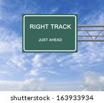 Road Sign To Right Track