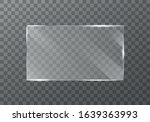 flat glass plates set. windows... | Shutterstock .eps vector #1639363993