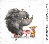 Children Book Illustration Grey ...