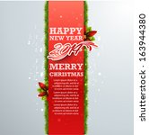 christmas card design. vector... | Shutterstock .eps vector #163944380