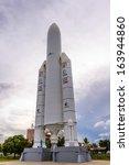kourou  french guiana  ...   Shutterstock . vector #163944860