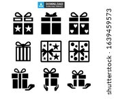 gift icon or logo isolated sign ... | Shutterstock .eps vector #1639459573