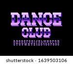 vector glossy logo disco club.... | Shutterstock .eps vector #1639503106