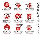 asian restaurant logo...   Shutterstock .eps vector #1639523143