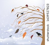 abstract winter and autumnal... | Shutterstock .eps vector #1639527823