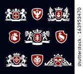 heraldic signs  heraldic... | Shutterstock .eps vector #163953470