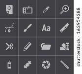 vector black  graphic design ... | Shutterstock .eps vector #163954388