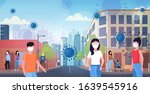 epidemic mers cov bacteria... | Shutterstock .eps vector #1639545916