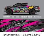 pick up truck decal wrap design ... | Shutterstock .eps vector #1639585249