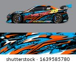 racing car wrap decal graphic... | Shutterstock .eps vector #1639585780