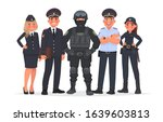 russian police officers on a... | Shutterstock .eps vector #1639603813