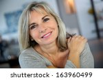 portrait of attractive and... | Shutterstock . vector #163960499
