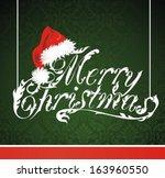 christmas lettering with santa... | Shutterstock .eps vector #163960550