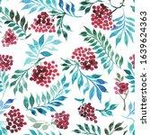 seamless watercolor pattern... | Shutterstock . vector #1639624363