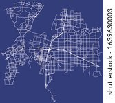 road map of albuquerque  new... | Shutterstock .eps vector #1639630003