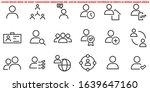 simple set of user related... | Shutterstock .eps vector #1639647160