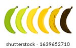 banana ripeness stages vector... | Shutterstock .eps vector #1639652710