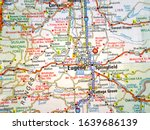 usa travel map background...   Shutterstock . vector #1639686139