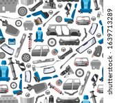 car spares and auto parts...   Shutterstock .eps vector #1639713289