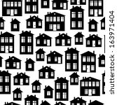 houses icon of seamless pattern | Shutterstock . vector #163971404