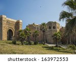 the kasbah of the udayas in... | Shutterstock . vector #163972553