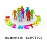 social network | Shutterstock . vector #163975808