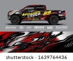 truck wrap design vector.... | Shutterstock .eps vector #1639764436