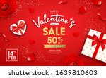 happy valentine's day poster... | Shutterstock .eps vector #1639810603