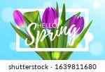 hello spring bouquet tulip...   Shutterstock .eps vector #1639811680