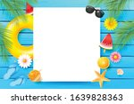 summer vacation concept  with... | Shutterstock .eps vector #1639828363