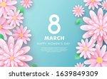 8 march. happy women's day.... | Shutterstock .eps vector #1639849309