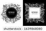 butterfly spring frame. hand... | Shutterstock .eps vector #1639868080
