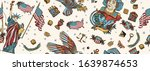 usa patriotic background. old... | Shutterstock .eps vector #1639874653
