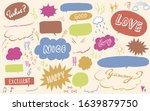 hand drawn pen style balloon...   Shutterstock .eps vector #1639879750
