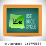 reuse  reduce  recycle... | Shutterstock . vector #163990559