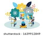 illustration office staff... | Shutterstock . vector #1639912849