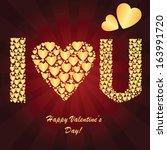 valentine's background with... | Shutterstock . vector #163991720