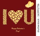 valentine's background with... | Shutterstock . vector #163991756