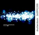 vector glittery lights blue... | Shutterstock .eps vector #163992200