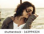 happy mature woman | Shutterstock . vector #163994324