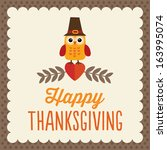 Retro Thanksgiving Day Card...