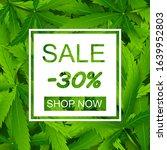 sale realistic cannabis...   Shutterstock .eps vector #1639952803