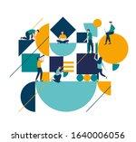 vector illustration flat people.... | Shutterstock .eps vector #1640006056