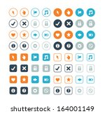 round and circle web business... | Shutterstock .eps vector #164001149