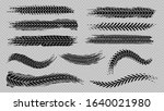tire trace track. abstract... | Shutterstock .eps vector #1640021980