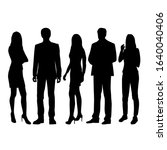 vector silhouettes of  men and... | Shutterstock .eps vector #1640040406