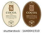 collection of labels with cocoa ...   Shutterstock .eps vector #1640041510