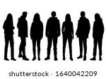 vector silhouettes of  men and... | Shutterstock .eps vector #1640042209