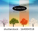 four seasons banners with... | Shutterstock .eps vector #164004518
