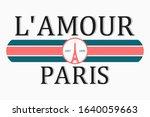 paris  france t shirt design... | Shutterstock .eps vector #1640059663